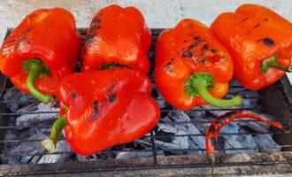 Интересное блюдо – болгарский перец на гриле, мангале и костре