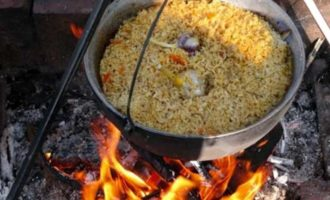 Как приготовить плов из свинины в казане на костре и в духовке, а также на плите