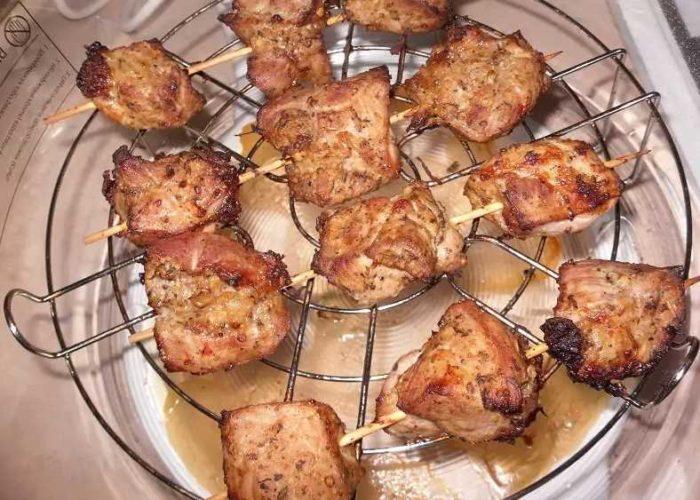 ТОП-9 лучших рецептов шашлыка в аэрогриле из свинины